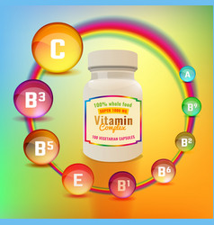 vitamin complex package vector image