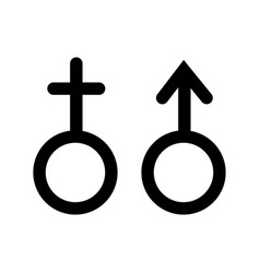 Female male sign vector