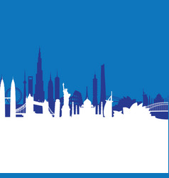 Blue cityscape background vector