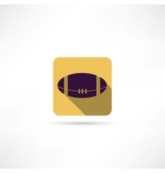 American ball icon vector image