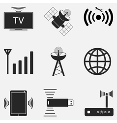 Wifi icon set two vector