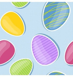 Seamless background with colorful easter eggs vector