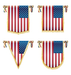 usa hanging decorations vector image