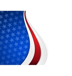 Stars and stripes themed wavy background vector