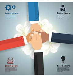 Brainstorm teamwork concept with business team vector