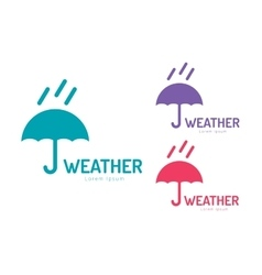 Umbrella colored logo vector