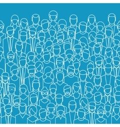 The crowd of abstract people vector
