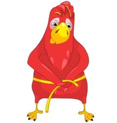 Funny parrot diet vector