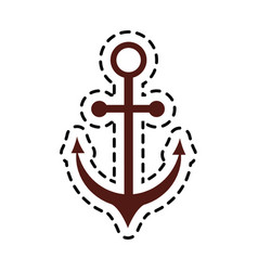 Anchor sticker icon image vector