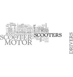 Are motor scooters safe yes and no text word vector