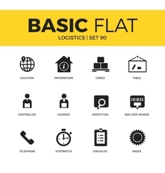 Basic set of logistics icons vector