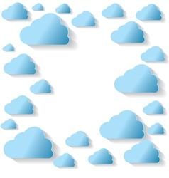 Blue Clouds On White Background vector image vector image