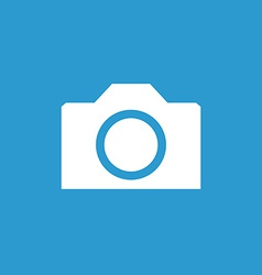 camera icon white on the blue background vector image