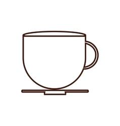 Coffee mug breakfast food menu icon vector