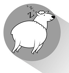 Counting sheep to sleep vector