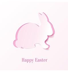 Creative Easter bunny vector image