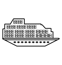 Cruise boat transatlantic vacation recreation vector