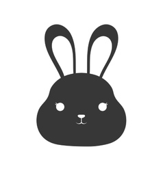 cute rabbit isolated icon vector image vector image