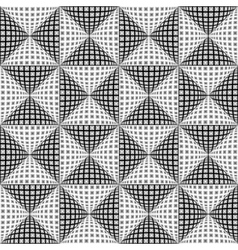 Design seamless monochrome triangular pattern vector