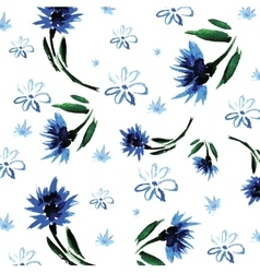 floral background painted hands in vector image