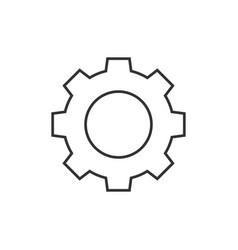 Gear outline icon vector