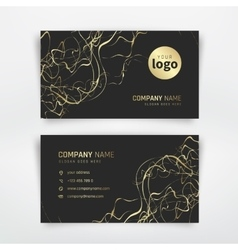Gold business card vector