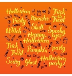 Halloween holiday lettering design vector