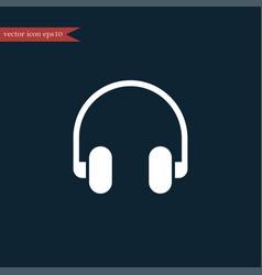 headphone icon simple vector image