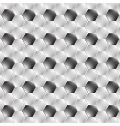 Hexagon metal background with light reflection vector image vector image