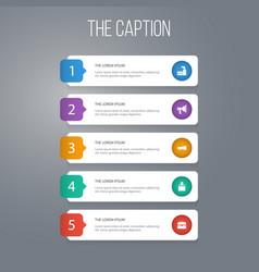 Icon job set of portfolio amplification vector