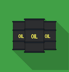 Oil barrel icon in flat style isolated on white vector