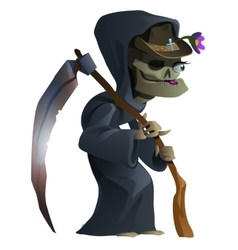 Old female skeleton the grim reaper vector