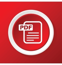 Pdf file icon on red vector