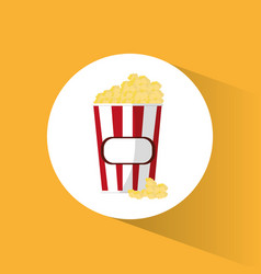 Pop corn box movie cinema vector