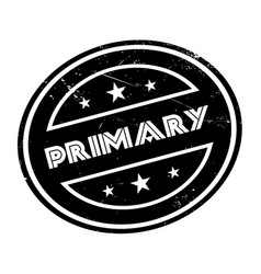 primary rubber stamp vector image vector image
