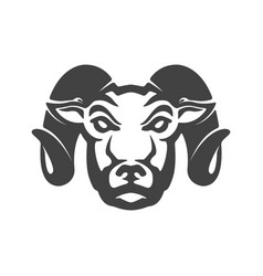 ram icon isolated on white background mutton head vector image vector image