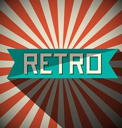 Retro Title on Vintage Background vector image vector image