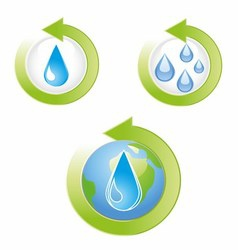 Save water icons vector
