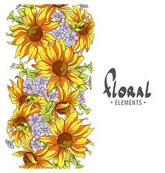 Solar sunflowers vector image