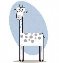 square animal giraffe vector image