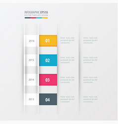 timeline design design yellow blue pink color vector image vector image