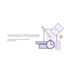 Training program education business concept vector
