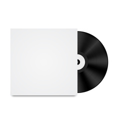 Vinyl Record in Envelope vector image