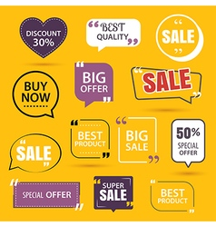 Collection of premium promo sale stickers vector