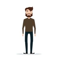 Abstract cute man vector image