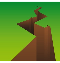 gap in the land vector image