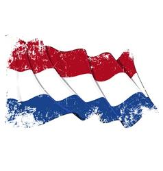 Netherlands Flag Grunge vector image