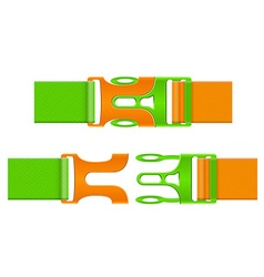 Plastic buckle clasp 04 vector