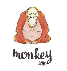 Monkey symbol of 2016 vector