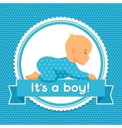 It is a boy baby shower invitation vector